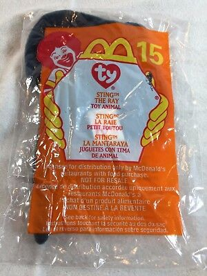 TY Teenie Beanie Baby STING THE RAY #15 McDonalds Meal Toys 2000 NEW