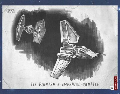 Topps Star Wars Card Trader Graphite White TIE Fighter & Imperial Shuttle SWCT