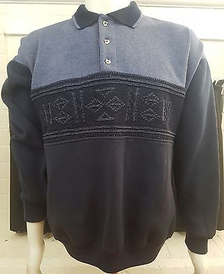 VINTAGE1970s-80s Original Reflexx Groovy Knit Retro Sweater Long Sleeve Size L