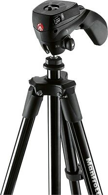 "Manfrotto 60"" Compact Action Aluminum Tripod Stand Black MKCOMPACTACN-BK Blowout"
