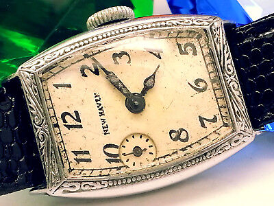 "1938 (Special-Rare)  ""9Pm Sub-Seconds!!"" Newhaven (Black-Out) Vintage Mens Watch"