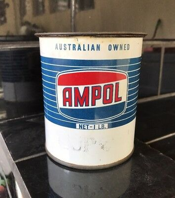 Ampol Dark Blue 1lb Pound Grease Tin MINT