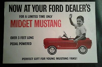 1965 Ford Dealer Advertisement For A Midget Mustang