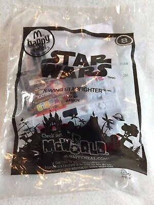 Star Wars X-WING FIGHTER #8p - McWorld McDonalds Meal Toys 2010 NEW