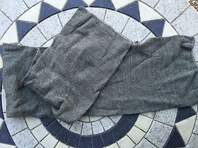 2 new vintage Swedish green / gray wool scarfs/ hat army military clothing  mod