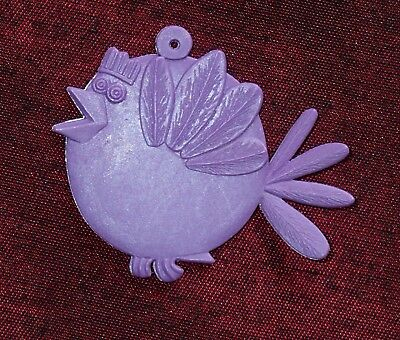 R&L CEREAL TOY Dingle Dangle SPARROW TWIT Stamped Melbourne 54-8 LILAC