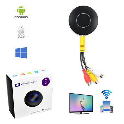 HD AV Car TV Stick WiFi screen mirroring Dongle Receiver Switch Airplay Miracast