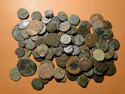 10 Assorted Low Grade AE4 Roman Bronze Coins.