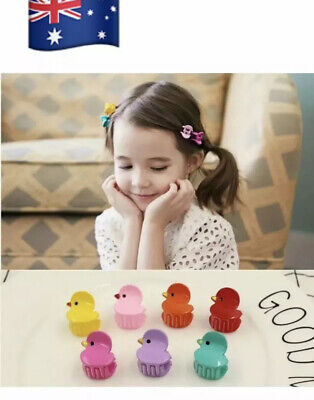 20pcs Fashion Mixed Flower Colours Plastic Hair Clip Baby Kids Women Clamp Claw
