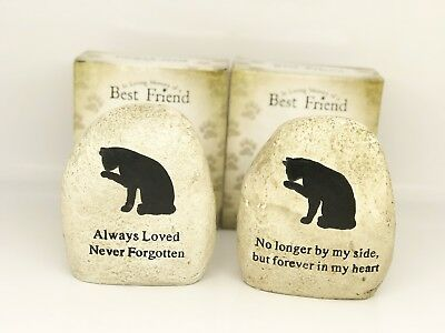 Cat Memorial plaque Stone for loss of your pet for grave keep sake