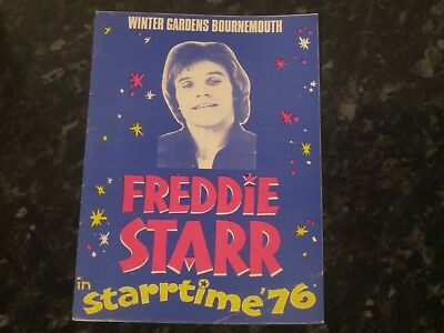Freddie Starr Startime Programme @ Winter Gardens Bournemouth - Dated 1976