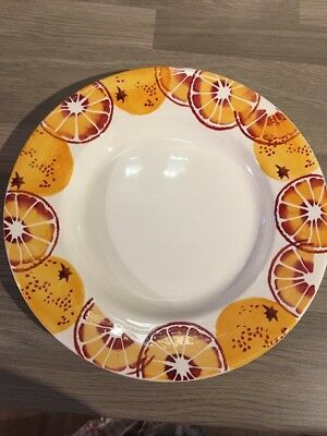 "EMMA BRIDGEWATER ORANGES 10.5"" DINNER PLATE, 1st QUALITY"
