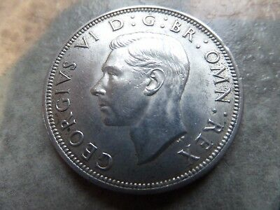 1944 - Silver Coin - Half Crown - Great Britain - King George VI - English UK