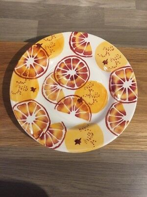 "EMMA BRIDGEWATER ORANGES 8.5"" SIDE PLATE, 1st QUALITY"