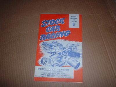 Vintage Formula 2 Stock Car Racing White City Glasgow Programme 1963 Mint/cond