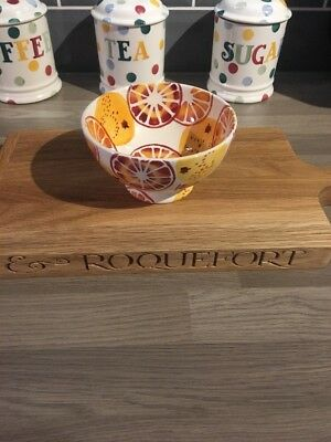 EMMA BRIDGEWATER ORANGES FRENCH BOWL, 1st QUALITY