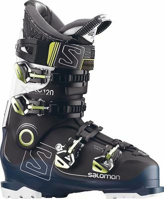 Salomon X Pro 120 2018 Ski Boots Black/Petrol Blue/White