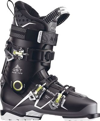 Salomon QST Pro 100 2018 Ski Boots Black/Anthracite/Acid Green