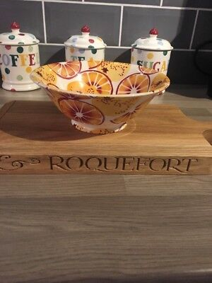 EMMA BRIDGEWATER ORANGES SMALL SERVING BOWL, 1st QUALITY
