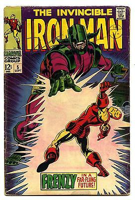 Iron Man #5 - Marvel - SILVER AGE 1968 - VG-