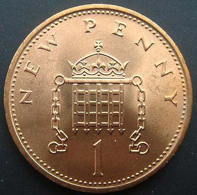 """1971 UncirculatedFirst Issue Of Decimal """"new Penny"""" Coin"""