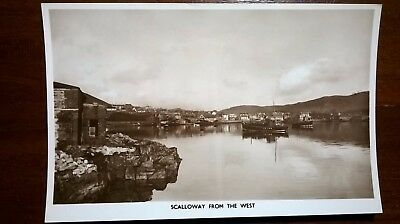Shetland RP Postcard Scalloway from the West