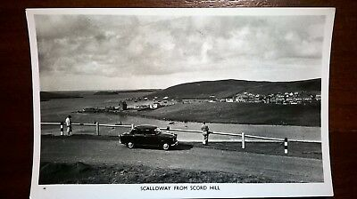 Shetland RP Postcard Scalloway from Scord Hill