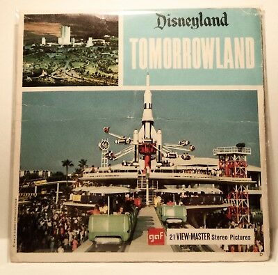 Disneyland Tomorrowland - View Master Complete 3 Reel packet #A-179