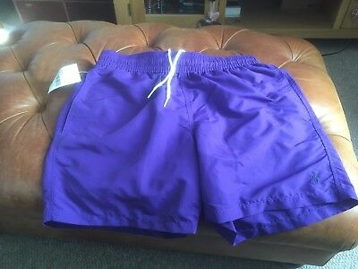 POLO RALPH LAUREN MENS NEW GENUINE TRUNKS SWIMMING SWIM SHORTS - Size Medium