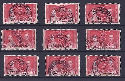 Basutoland: 1937 George VI Coronation 1d with fine circular date stamps