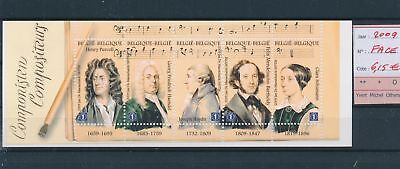 LH13051 Belgium 2009 composers music sheet MNH face value 6,15 EUR