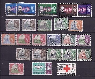 Basutoland: selection inc. Winston Churchill, QE issue, overprints etc