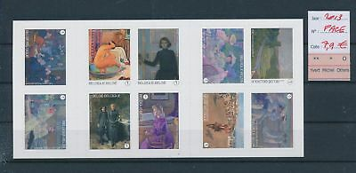LH13070 Belgium 2013 art paintings sheet MNH face value 7,9 EUR