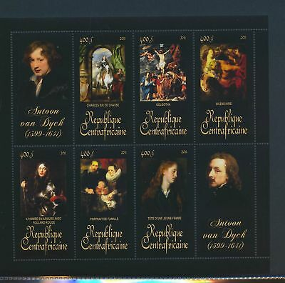 XA82095 Central Africa 2011 Antoon van Dyck art paintings XXL sheet MNH