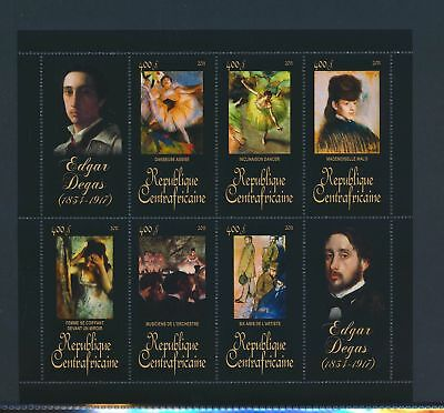 XA82099 Central Africa 2011 Edgar Degas art paintings XXL sheet MNH