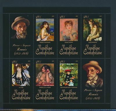 XA82100 Central Africa 2011 Pierre-Auguste Renoir art paintings XXL MNH