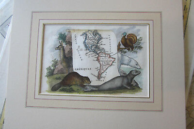 North America & South America, small map with french matt ca: 1830
