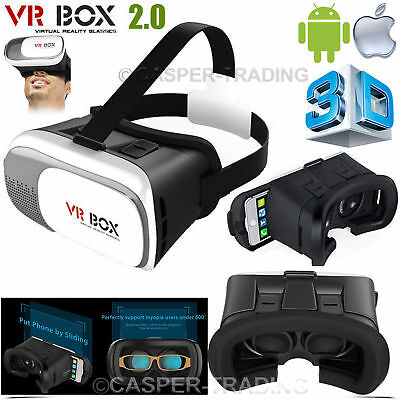 0c156704b57 3D Virtual Reality VR Box 2.0 Glasses Smart Phone Universal Headset Goggle  Video