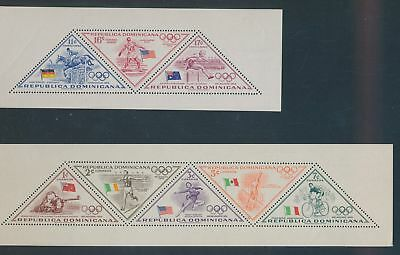 XA79598 Dominicana Melbourne 1956 olympic games sheets MNH