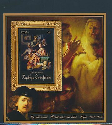 XA82146 Central Africa 2011 Rembrandt van Rijn art paintings XXL MNH