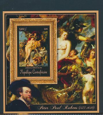 XA82180 Central Africa 2011 Peter Paul Rubens art paintings XXL sheet MNH