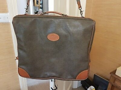 Mulberry  Suit Carrier scotch grain   Vintage Leather Brass Suitcase Luggage