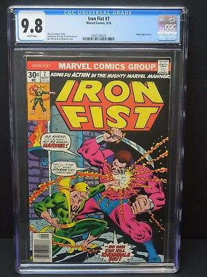 Marvel Comics Iron Fist #7 1976 Cgc 9.8 White Pages Angar Appearance