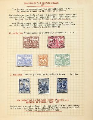 PORTUGAL 1925/40 Tax Gama MH Used 18 Stamps DAB 130
