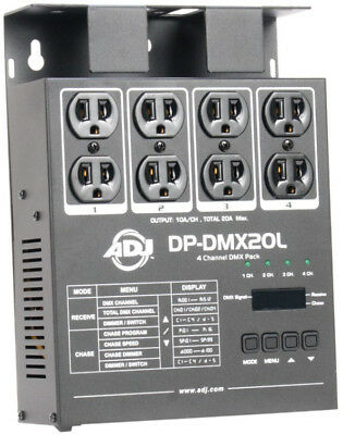 American DJ  4-Channel Portable DMX Dimmer Switch Pack