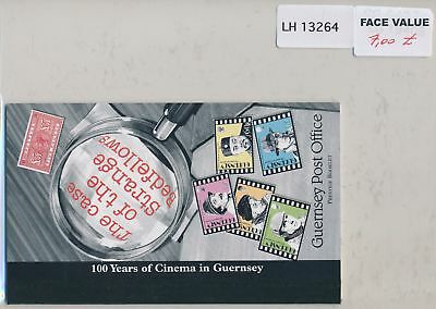 LH13264 Guernsey cinema centenary fine booklet MNH face 7£