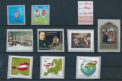 LH13173 Austria 2012 nice lot of stamps MNH face value 7,02 EUR