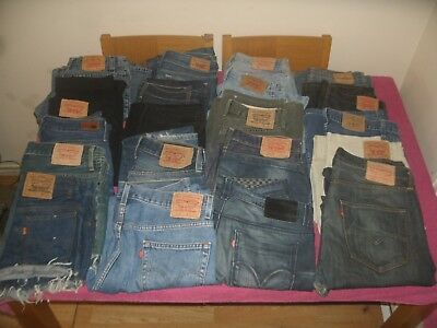 Joblot Of 20 Pairs Of Mixed Levis jeans Various Sizes/Conditions Mens & Womens