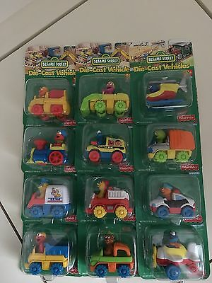 Sesame Street Die Cast Vehicles. Full Set Of 12. Fisher Price. New
