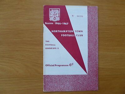26Th November 1966 Northampton Town V Blackburn Rovers League Division Two